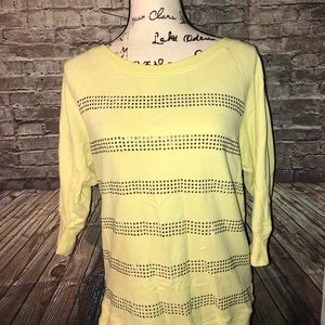 Victoria's Secret | studded yellow  3/4 sleeve